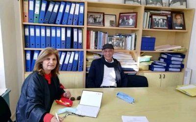 Συνάντηση με τον Πρόεδρο του Κοινοτικού Συμβουλίου Άρμου κ.Πανίκο Χατζηθεορή είχε σήμερα η υποψήφια Βουλευτής του Κινήματος Οικολόγων – Συνεργασία Πολιτών Χρύστα Χριστοφή